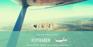 Picture of Uluru Ayers Rock with FlyTrader Aviation Rentals Logo